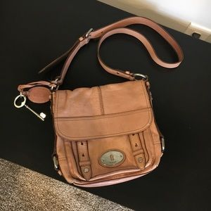 Blush pink leather Crossbody by fossil